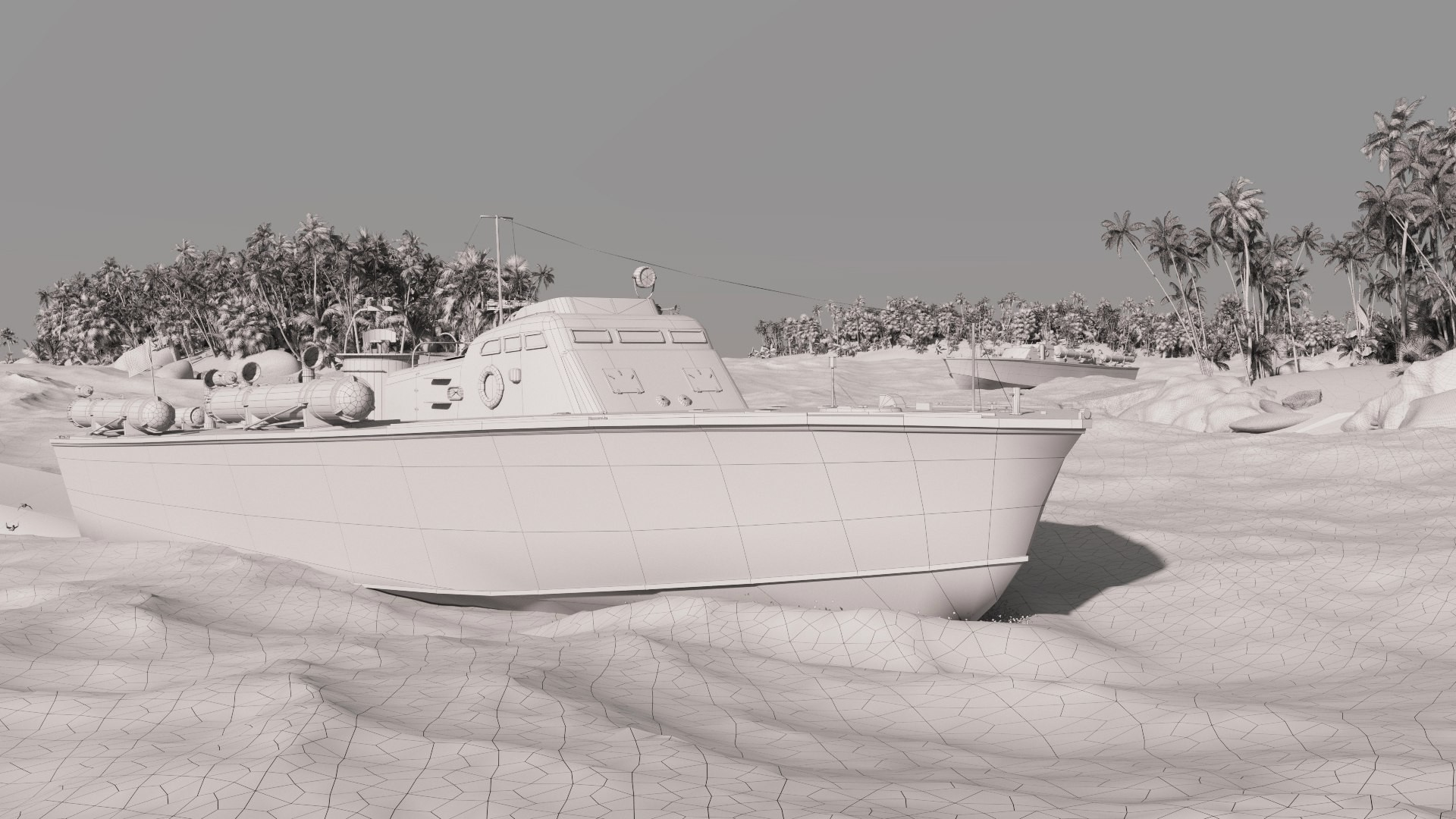 ArtStation - Elco 77 ft PT boat, Gleb Kosheyev