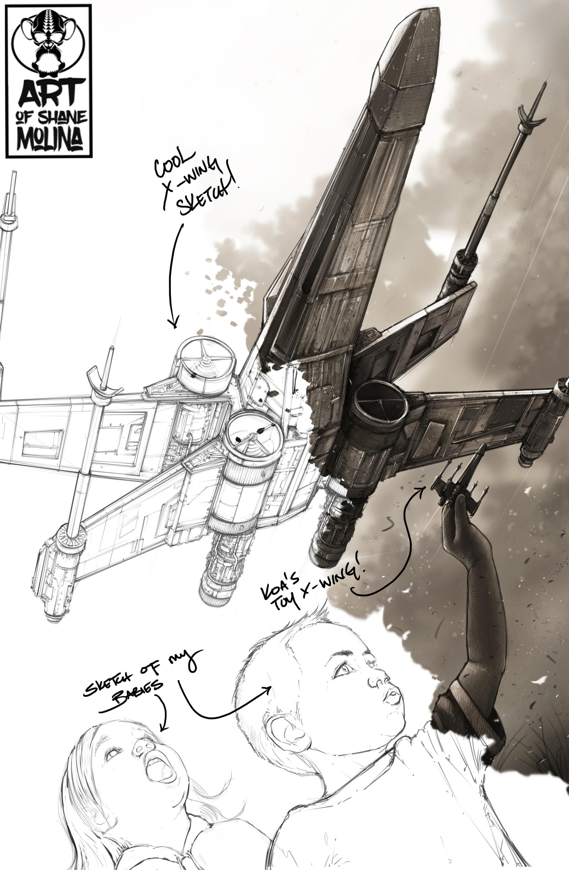 Shane molina xwing keeds sketch