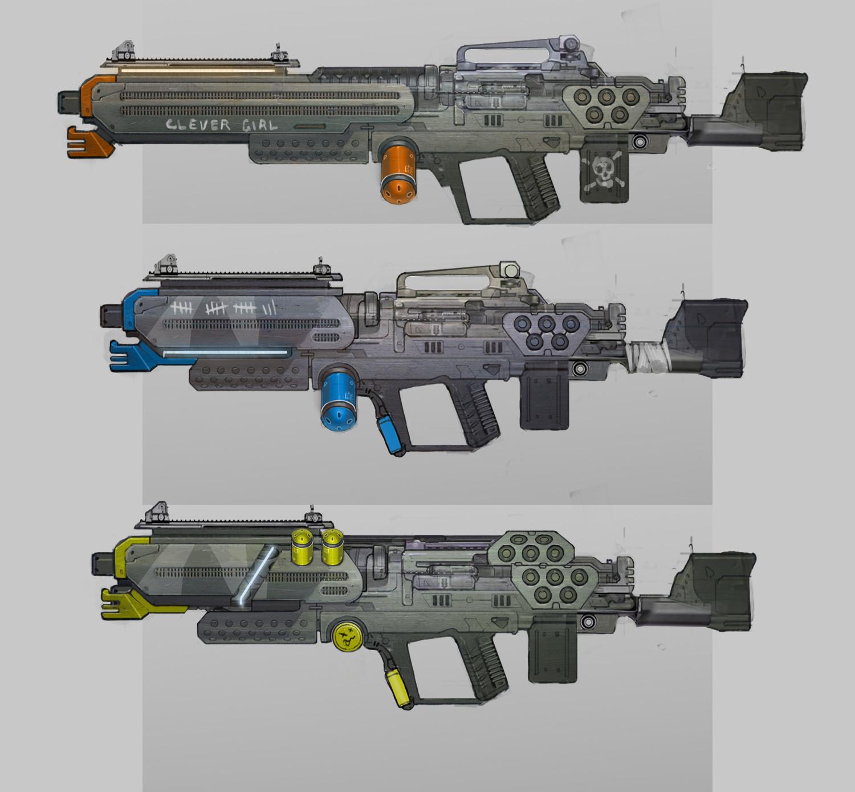 West clendinning sro concept props guns