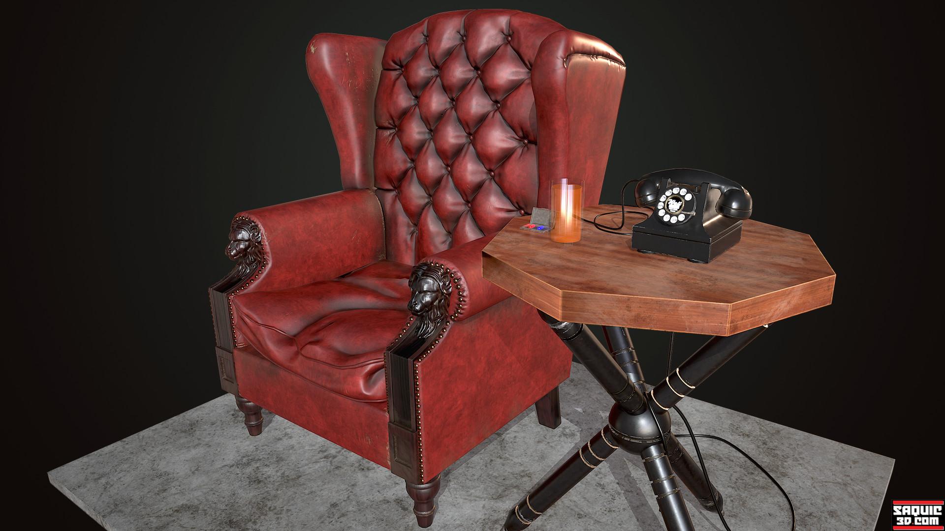 MORPHEUS CHAIR Turntable & ArtStation - Morpheus Chair Rene Saquic