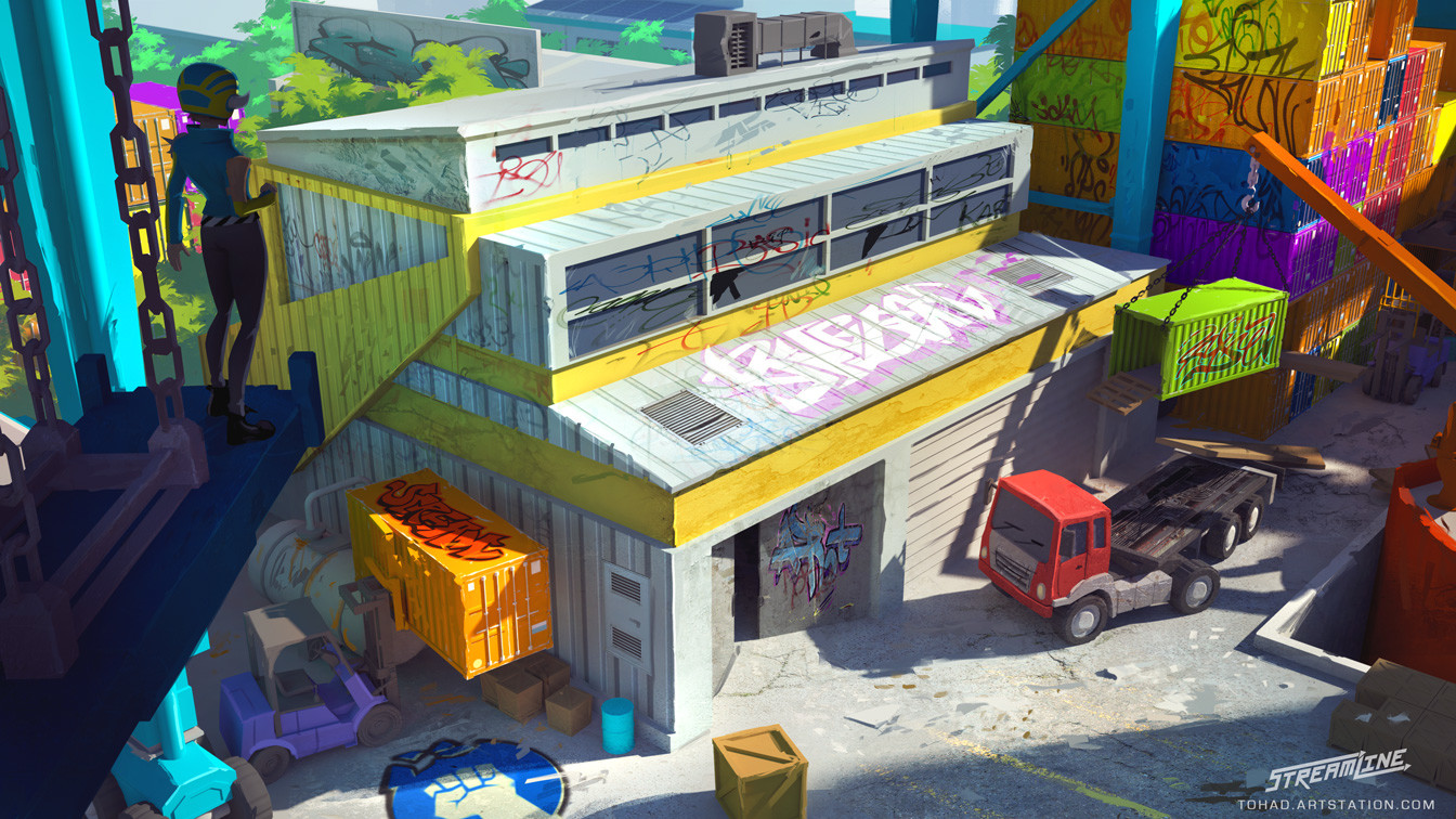 Streamline concept-art : warehouse