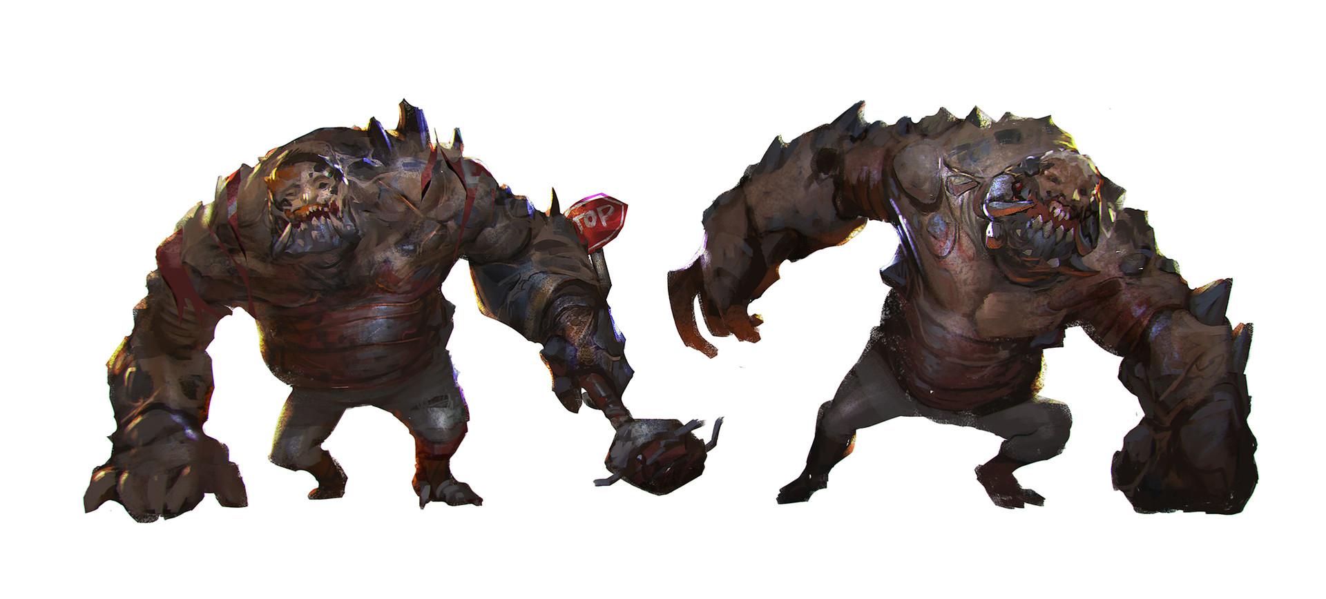 Rudy Siswanto - Mutant zombie sketches