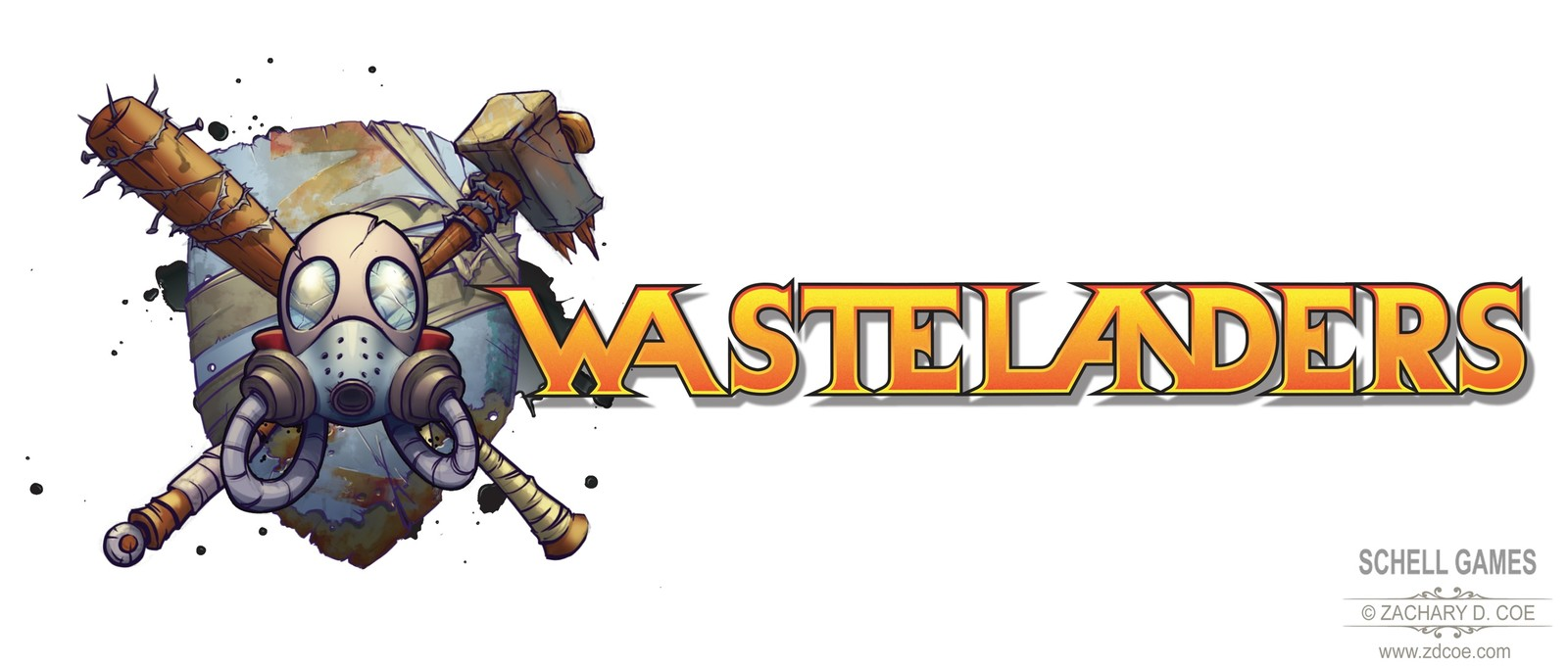 WASTELANDERS LOGO horizontal final by Zachary D. Coe