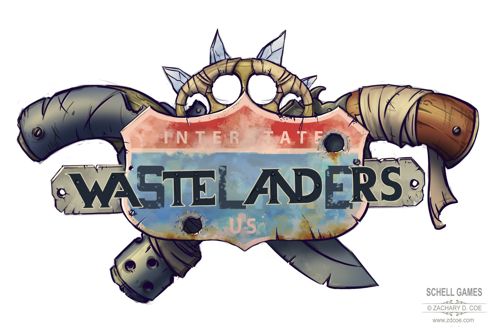 WASTELANDERS LOGO Original Final by Zachary D. Coe
