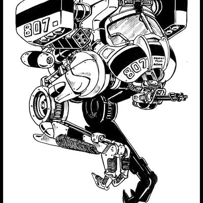 Stalker Unit 807-Inktober #13 #inktober #inktober2015