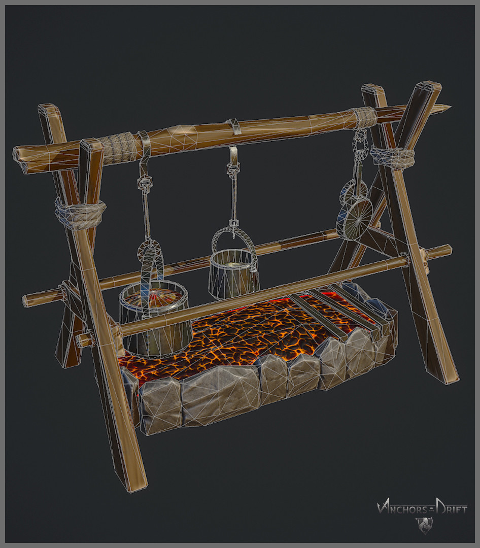 Cooking Pit Wireframe
