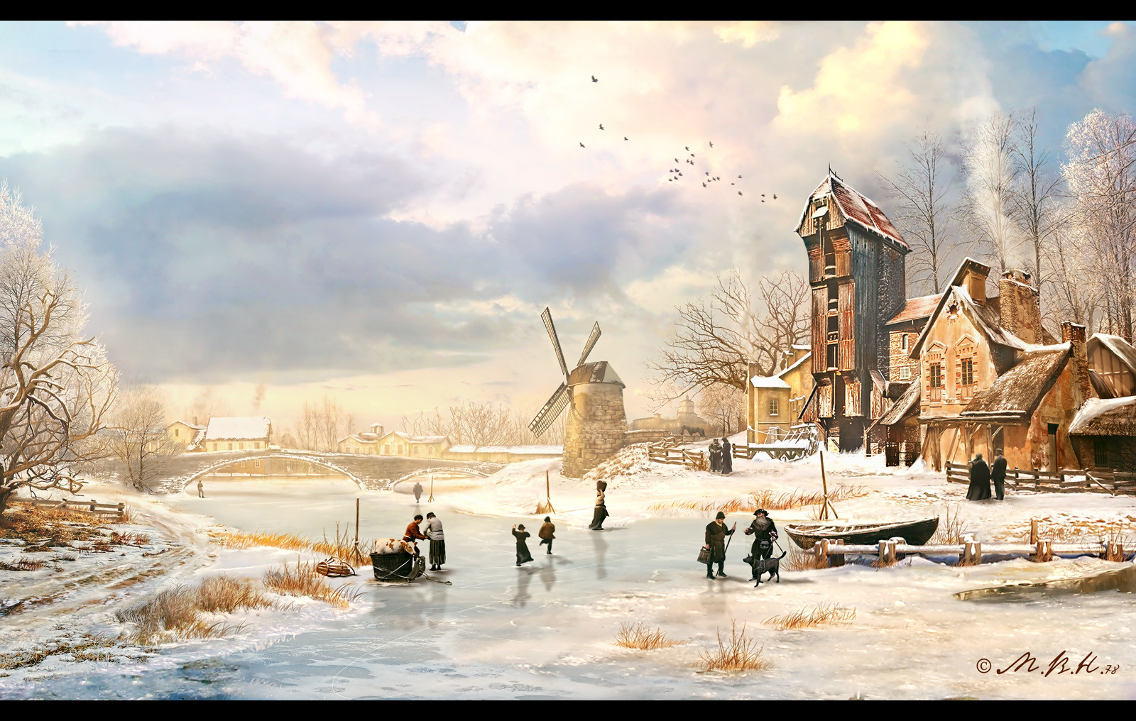 Vladimir manyukhin winter afternoon