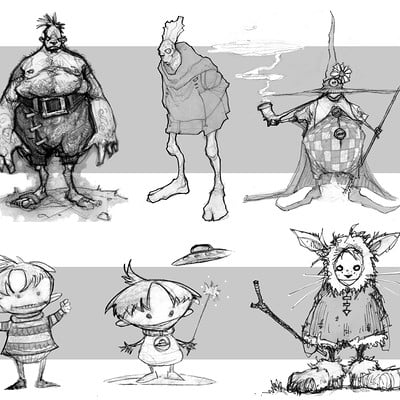 Mike mccarthy character style doodles