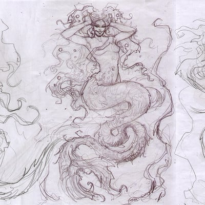 Mike mccarthy mermaid sketches2