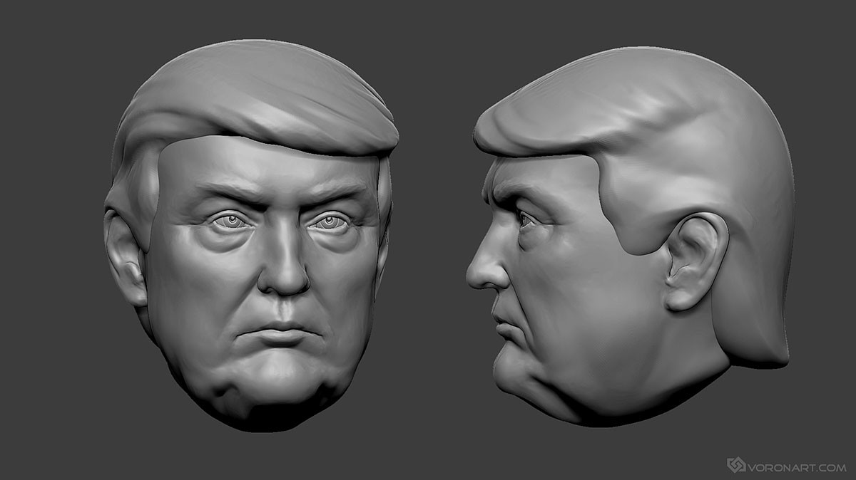 Artstation donald trump 3d print ready model nikolay for Donald model