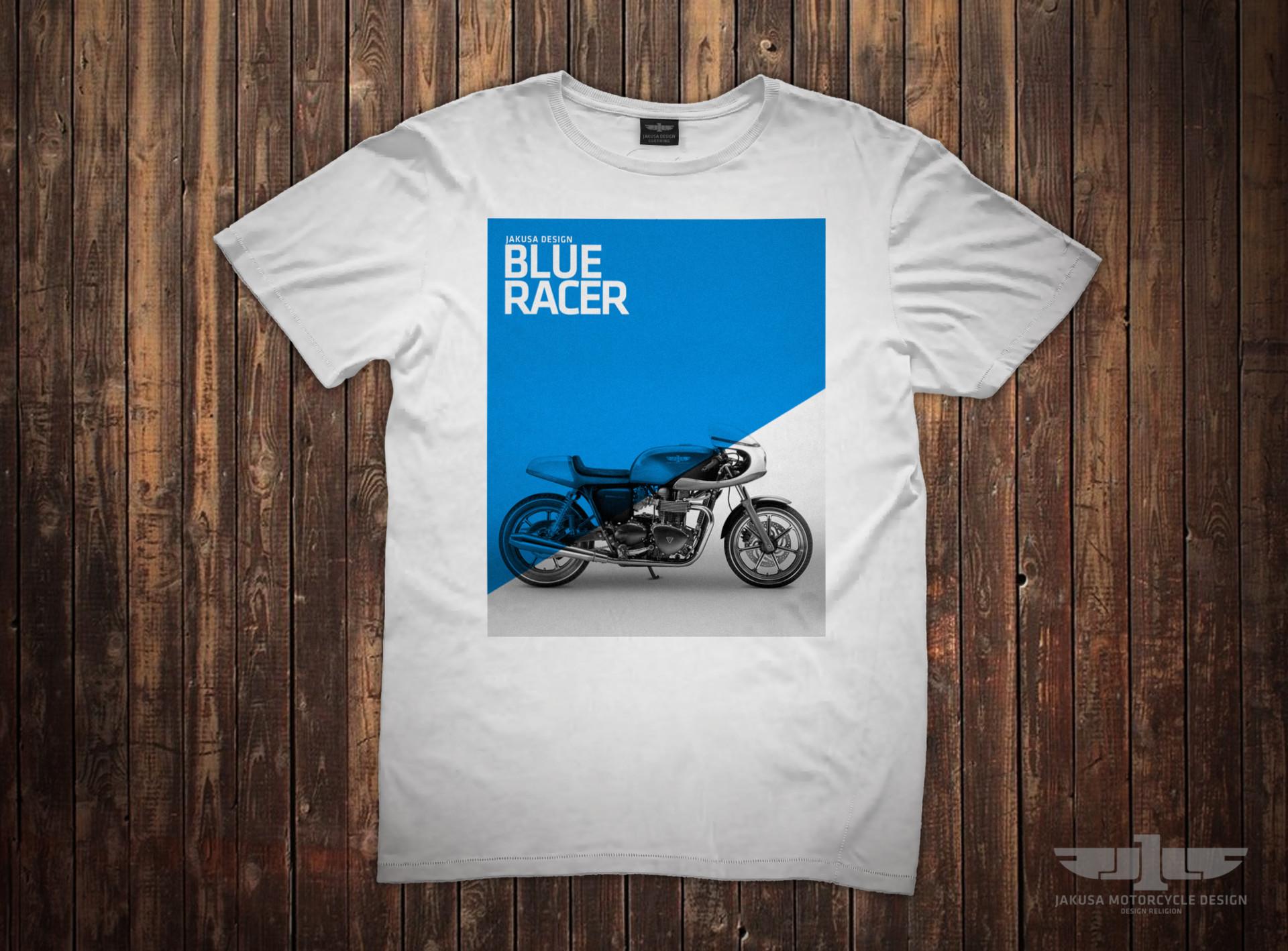Tamas jakus blue racer t shirt
