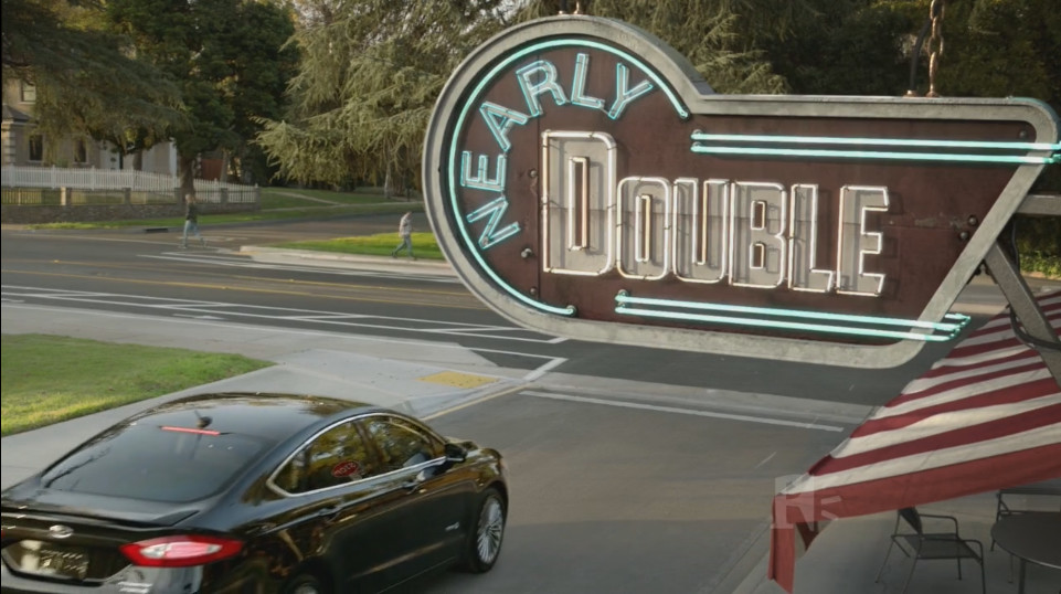 modeled Letters, and setup shot lighting for sign, awning, and patio furniture.