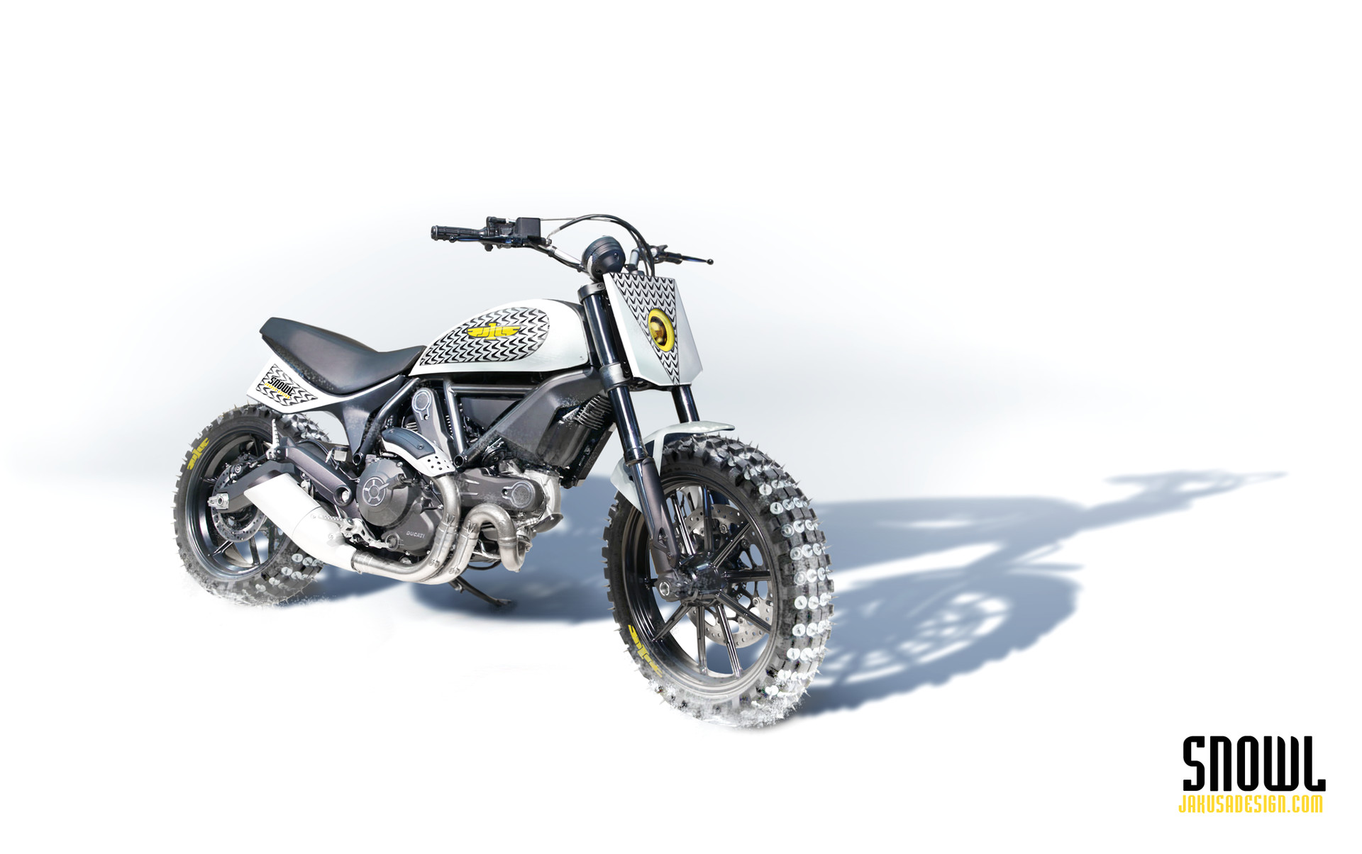 Tamas jakus snowl motorcycle white 2048