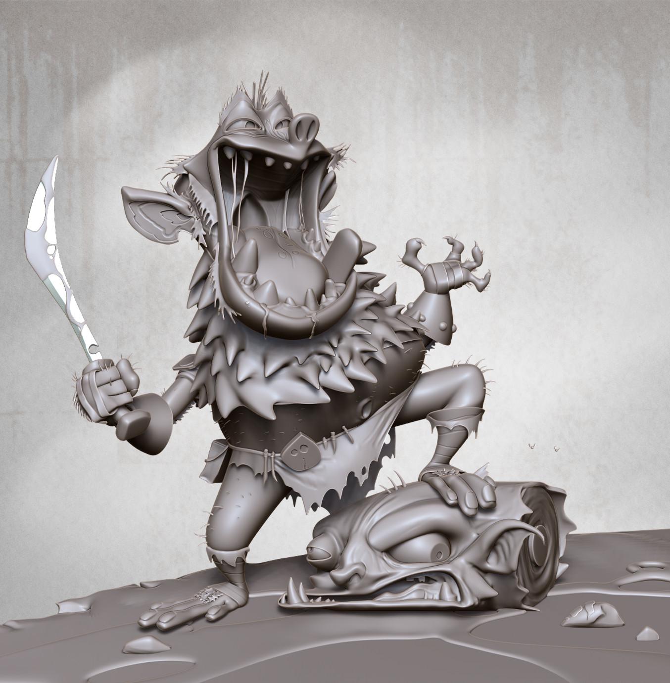 Paul lembcke goblin render clay