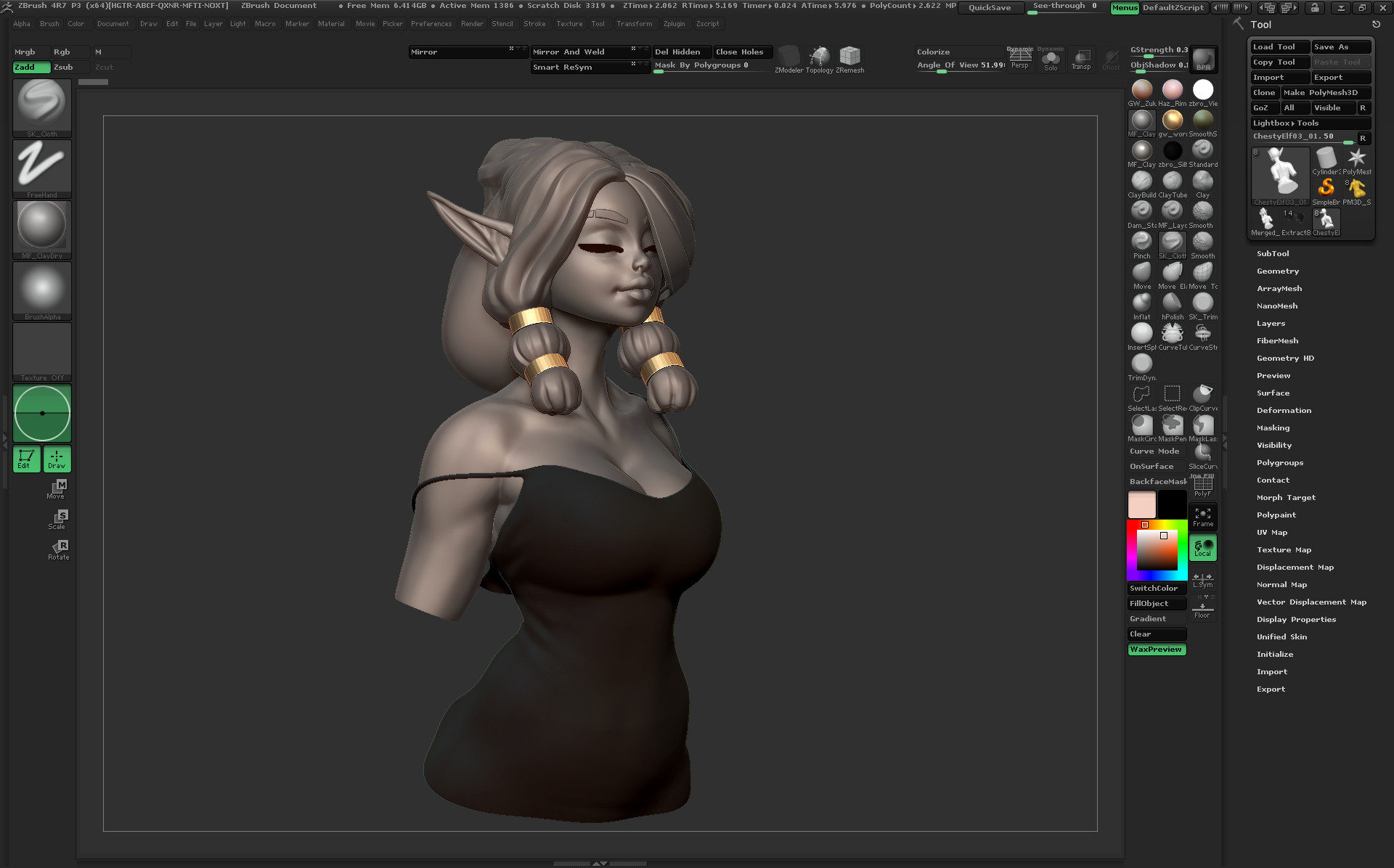 Hair blockout, finding the initial look.