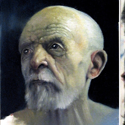 Mike engstrom small oil painting of an old man by engy27 d73584t