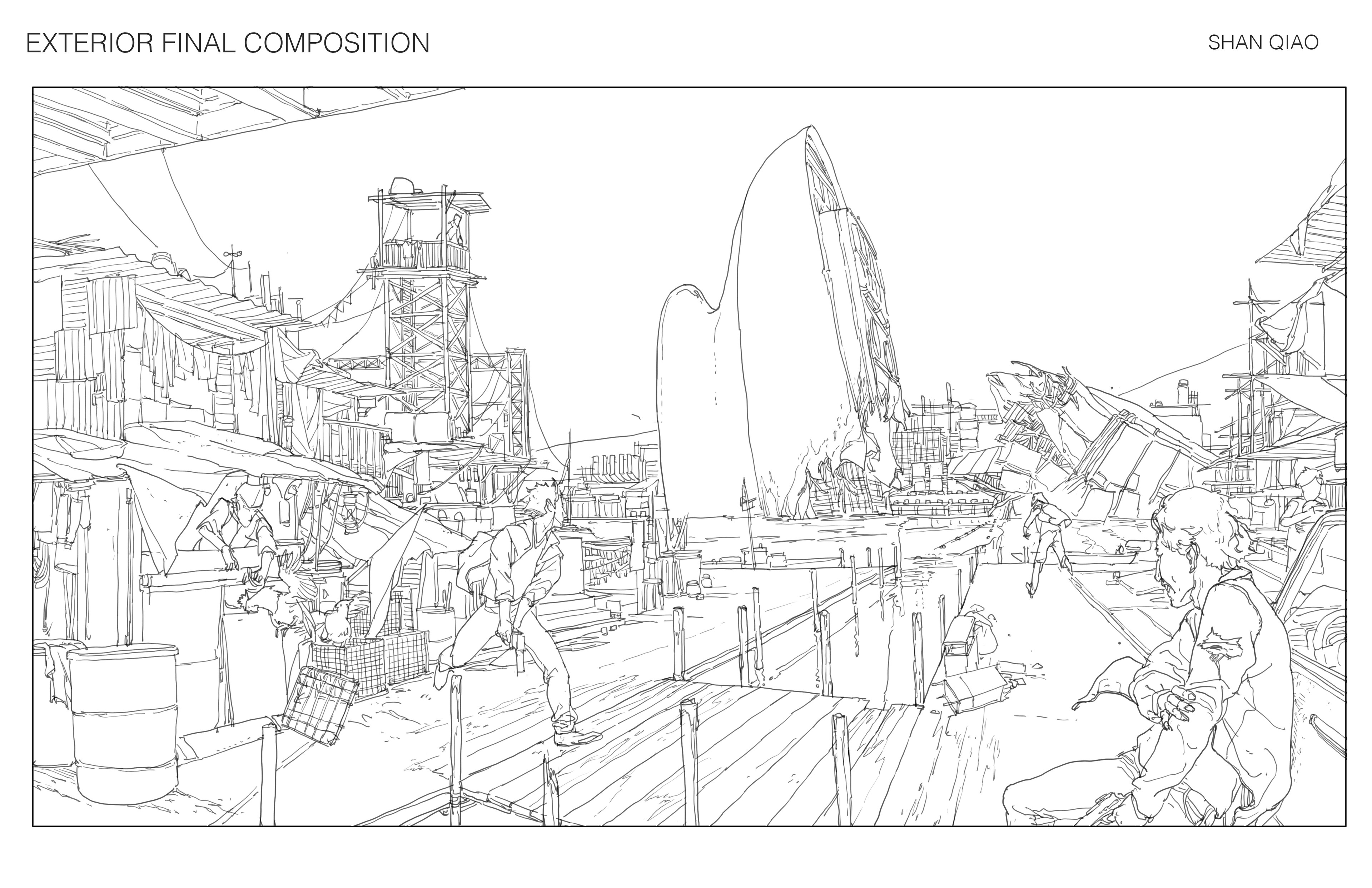 Final line drawing