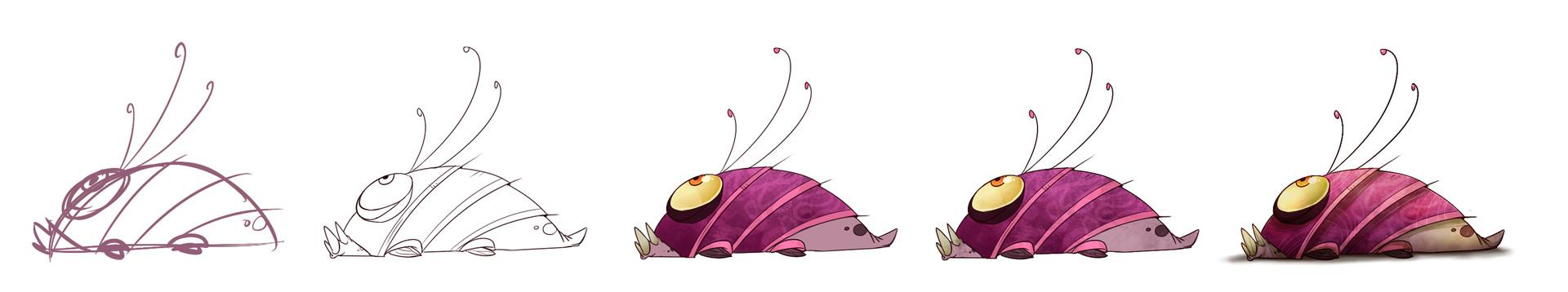 Marie razny marie razny larva thing wip by kina axian d8t23i9