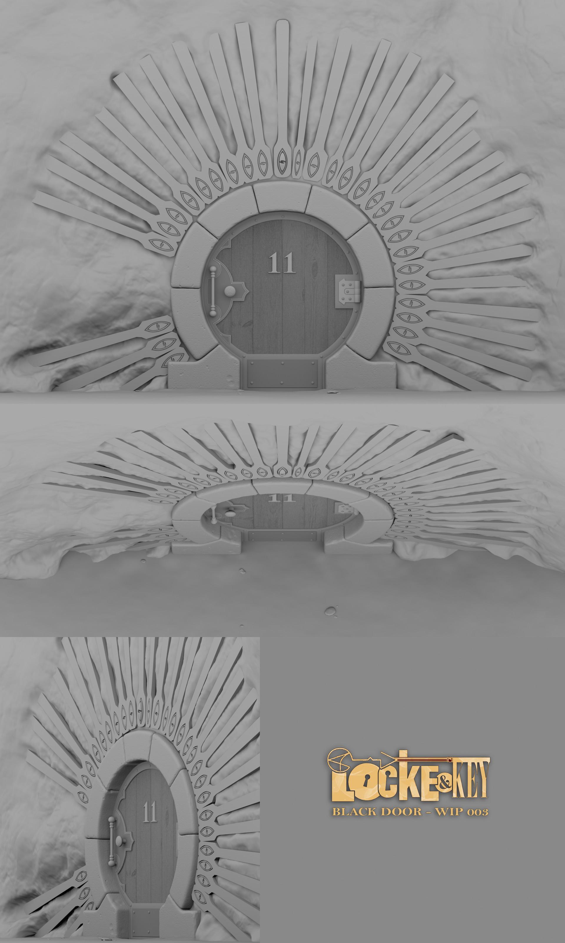 Samuel cote lrg lk black door wip004 & Samuel Côté - Locke u0026 Key - Omega Door