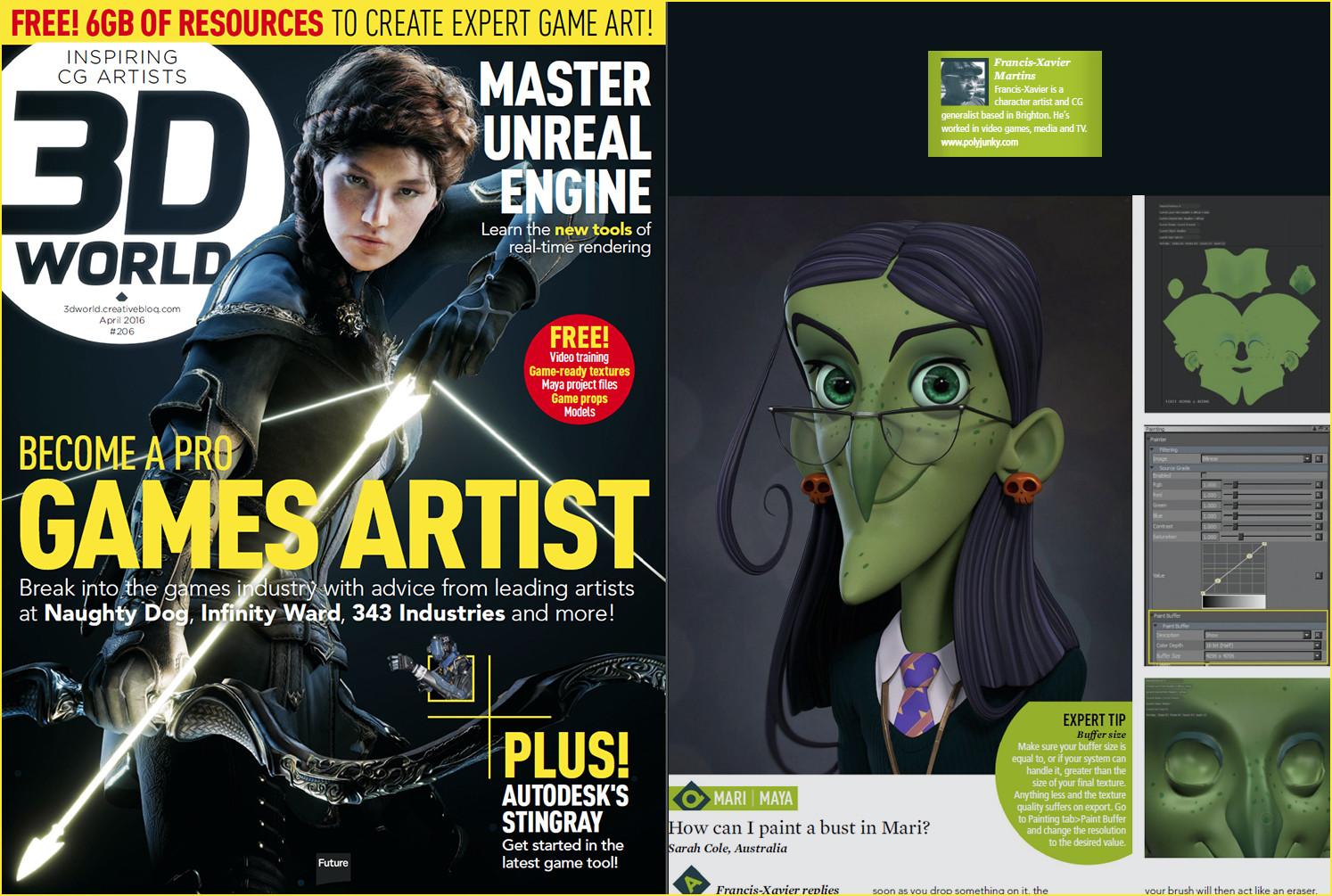 Mari tutorial for 3d World magazine. April 2016.