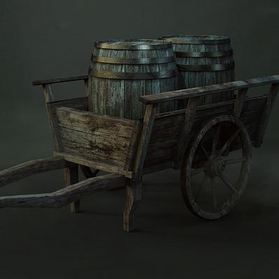 Ste flack wooden cart