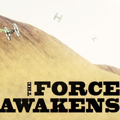Paul wiz johnson the force awaken vintage poster
