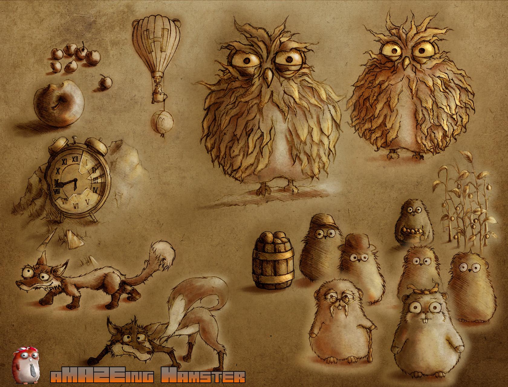 Diego peinador hamster intro sketches