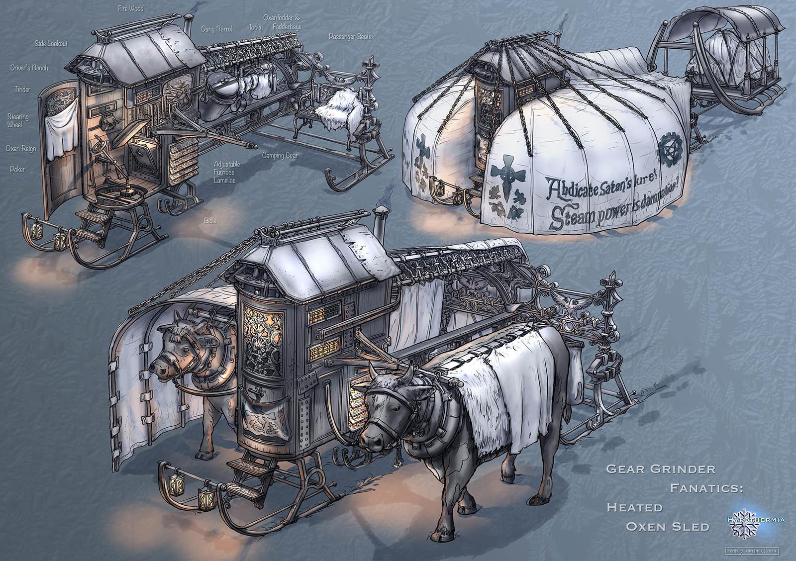 Gear Grinder Fanatics – Heated Oxen Sled