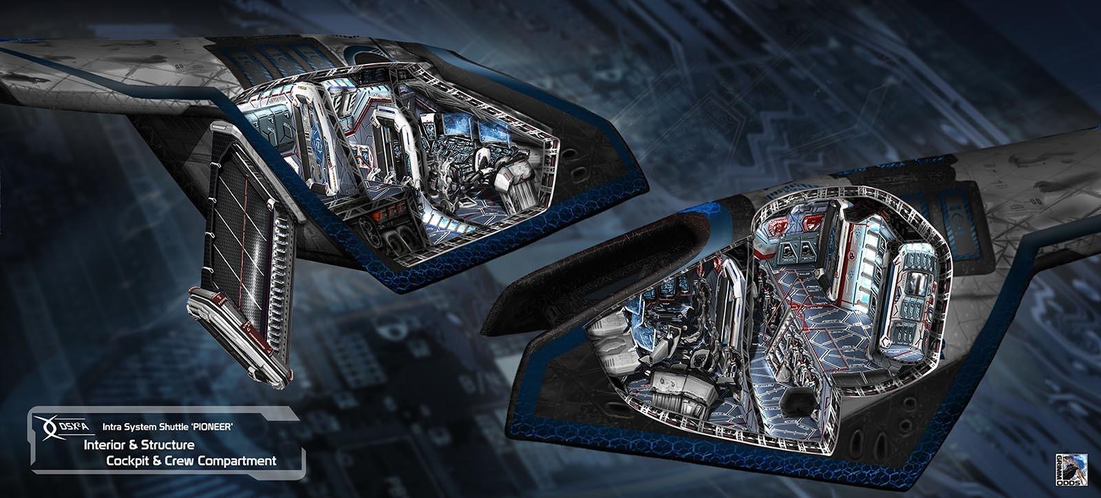 Grimm Odds - Shuttle Interior - Cockpit Section