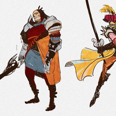 Ahmed rawi characters warriors rough