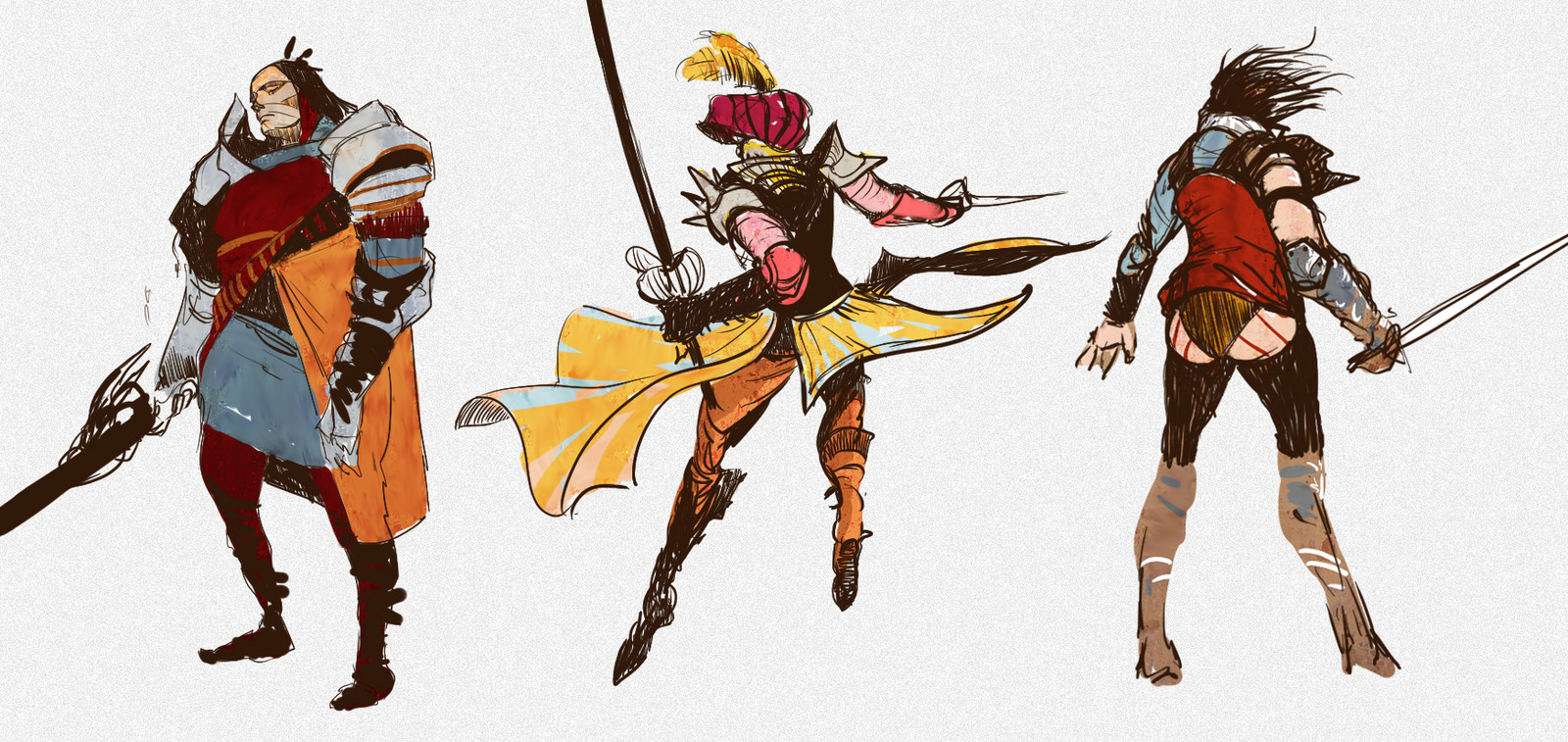 Characters Sketches.
