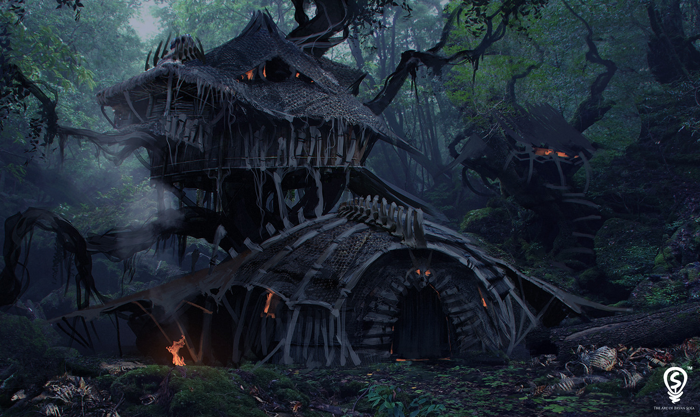 Artstation dragon hunter house design bryan sola - The home hunter ...