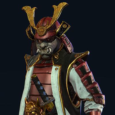 Satoshi arakawa male samurai heavy turnaround