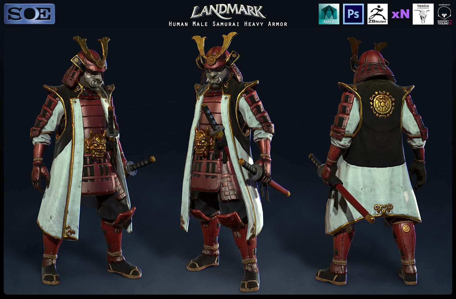 Human Male Samurai Heavy Armor