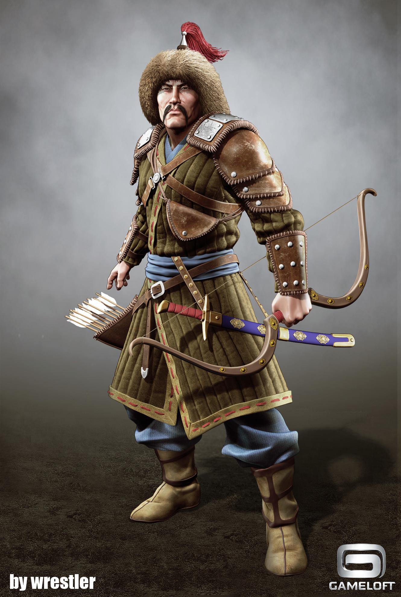 ArtStation - Tatar Warrior render, Georgi Georgiev