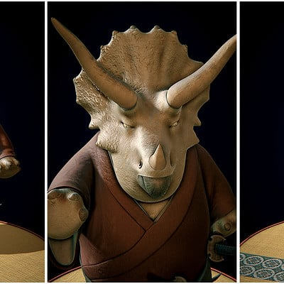 Pablo m bravo triceratops samurai
