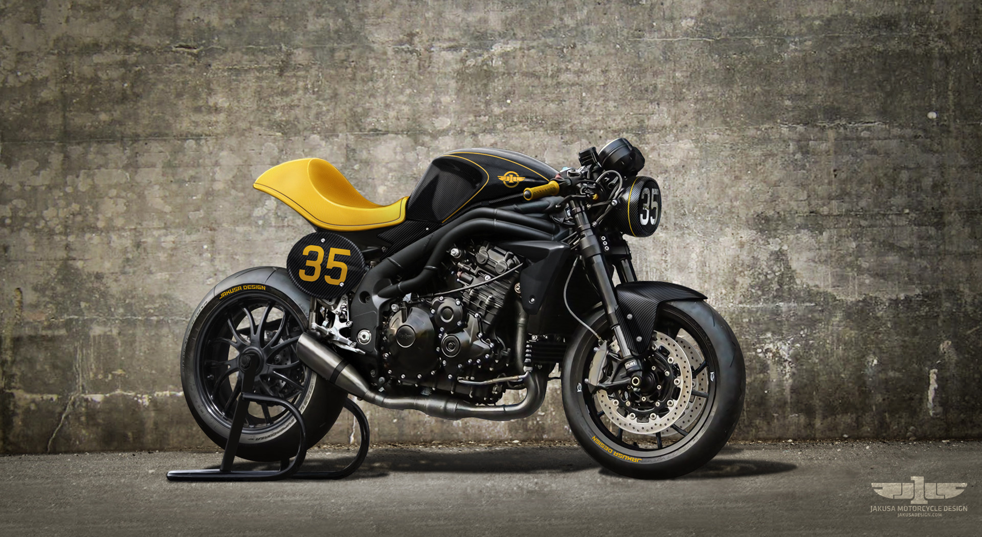 """Triumph Speed Triple"" by Jakusa Design Tamas-jakus-type35b-1920jpg"