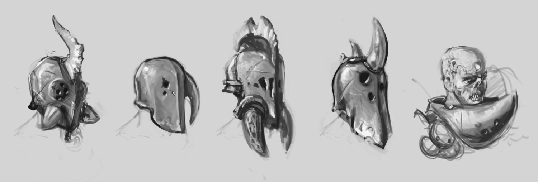 Carlo spagnola nurgle helmet sketches