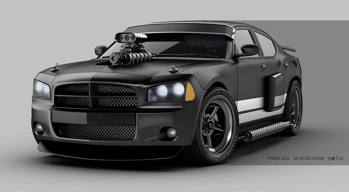 Artstation Dodge Charger Custom Jomar Machado