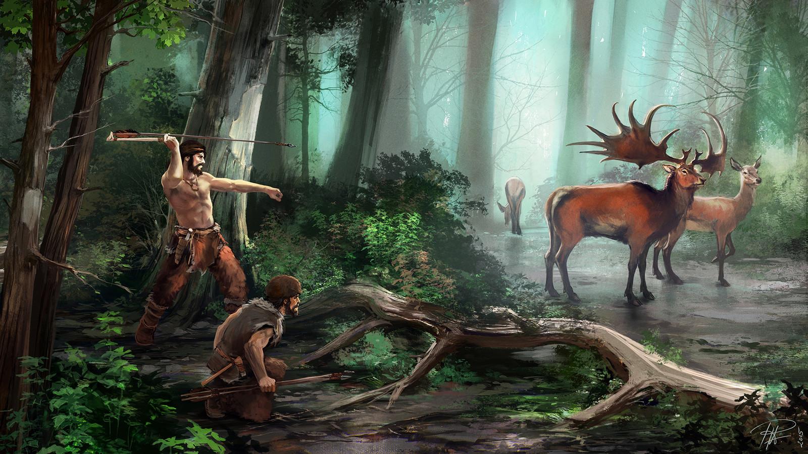 Giant Deer hunt.