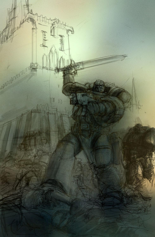 Stefan kopinski deathwatch cover sketch