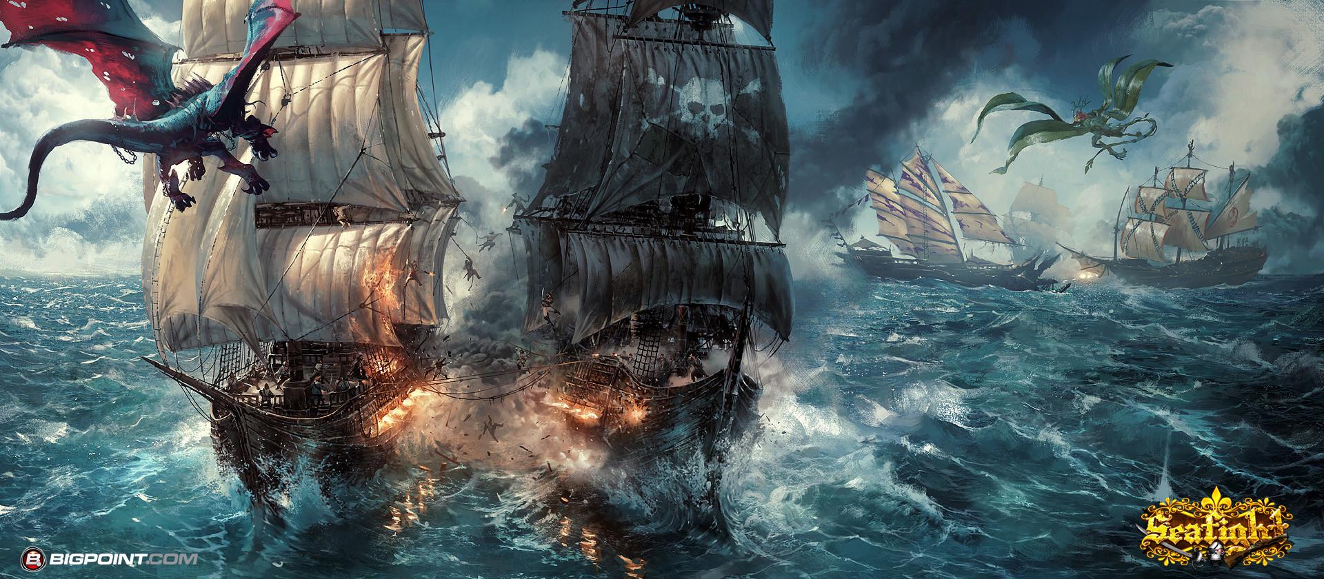 Grzegorz rutkowski pirate ship battle 1920
