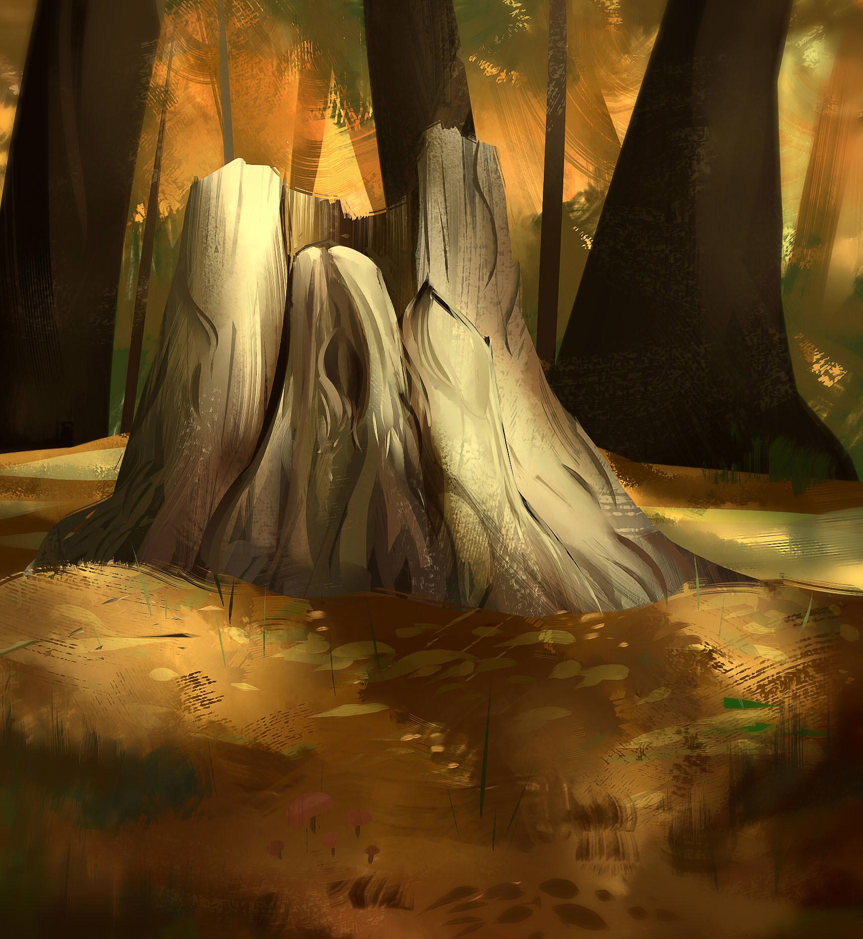 Benjamin pelmoine tree stumped