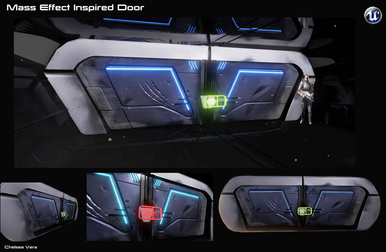 Mass Effect Inspired Door