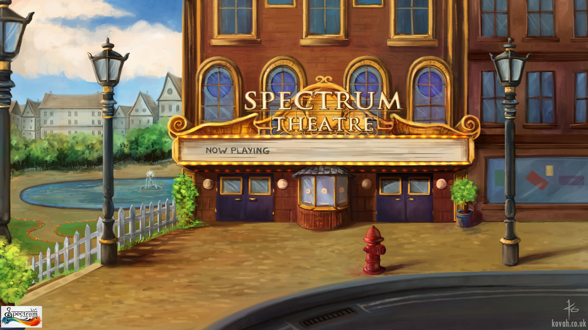 Spectrum Theatre Game backgrounds