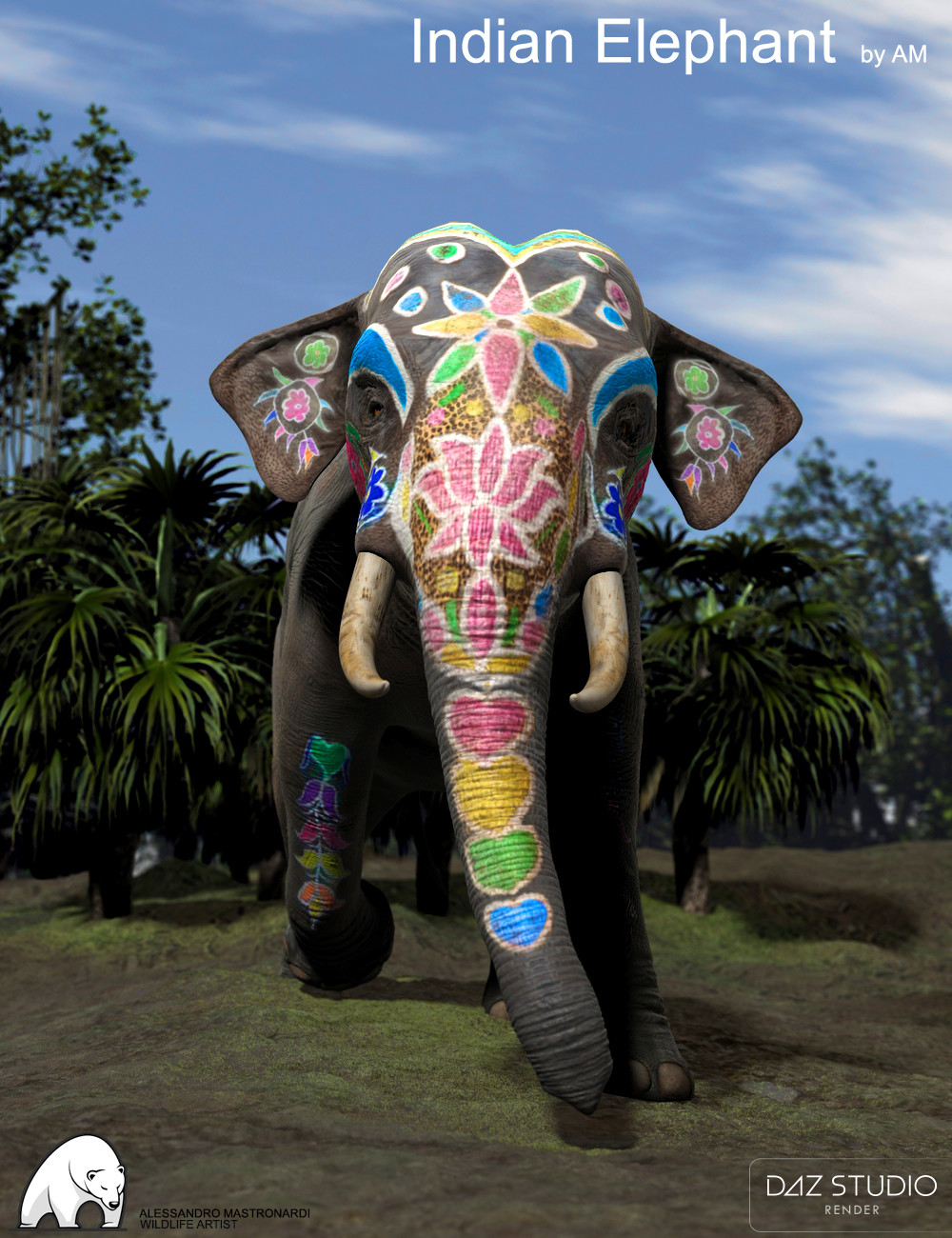 painted indian elephant wallpaper - photo #12