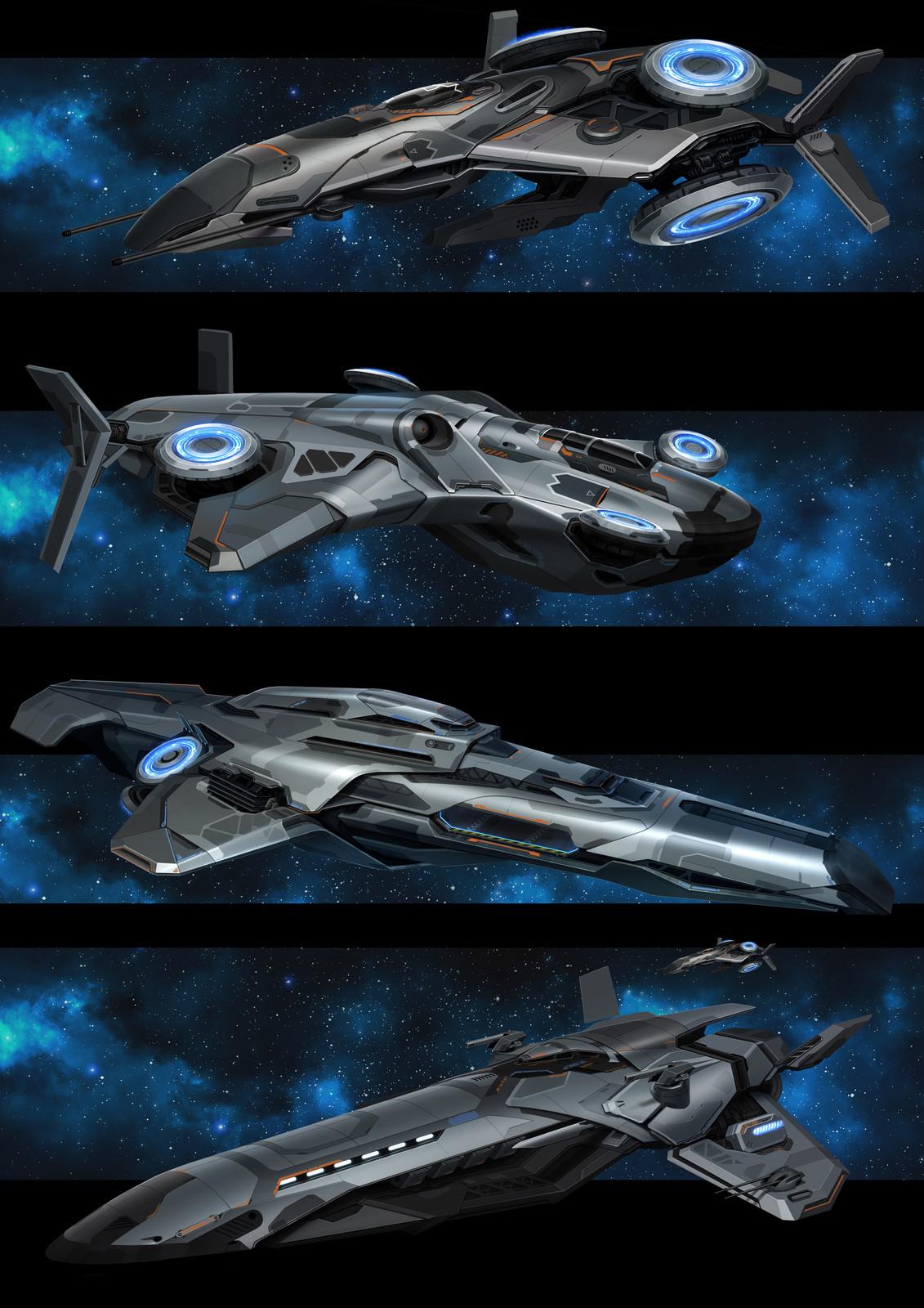 artstation starships sergey kondratovich