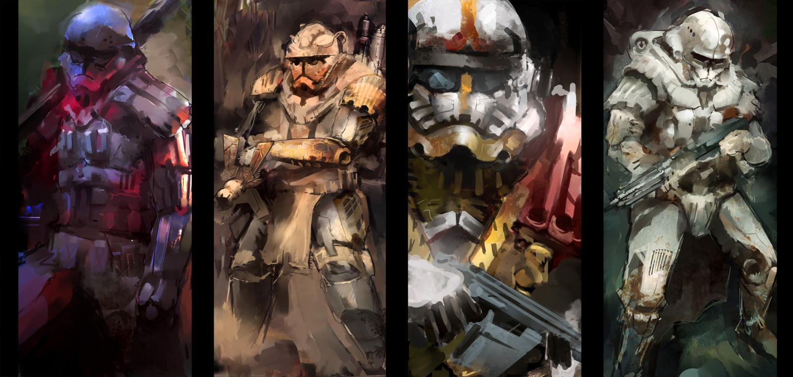 4 Stormtroopers