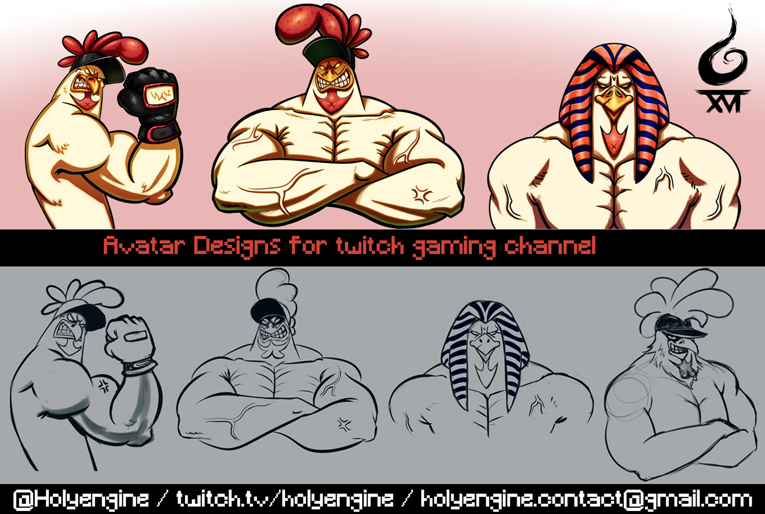 KheopsGaming Avatar Designs for twitch gaming channel