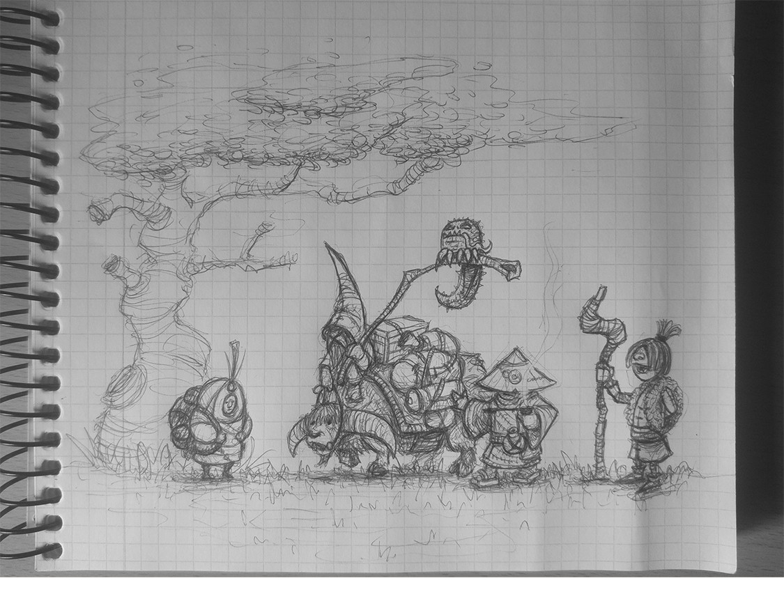 Jose samaniego blue pilgrims sketch